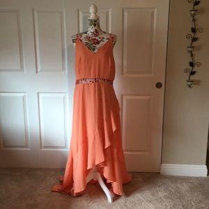 F2F peach colored dress